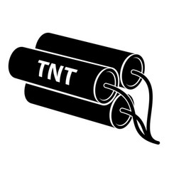 Tnt icon simple style vector