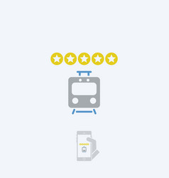 Train rating icon - thin series vector