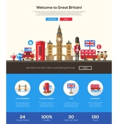 Traveling to Great Britain website header banner vector