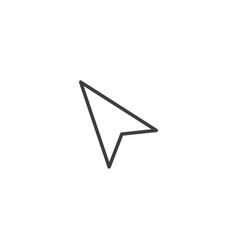 triangle cursor click icon symbol premium quality vector image
