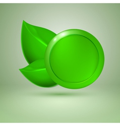 Two green leaves vector