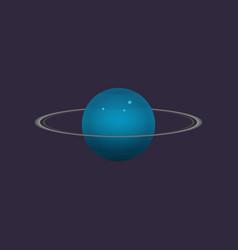 Uranus planet in deep space icon vector