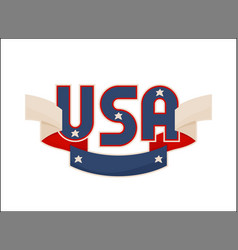 usa label with national american symbolism banner vector image