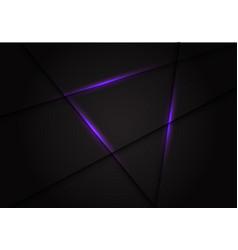 violet light line cross on dark grey vector image