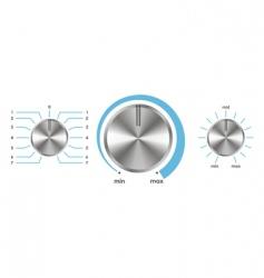 Volume balance knobs vector
