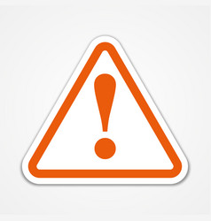 warning sign with shadow vector image