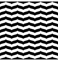 Wavy zig zag seamless pattern white and black 3d vector