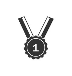 winner medal icon design template isolated vector image