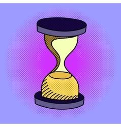 Hourglass pop art vector image