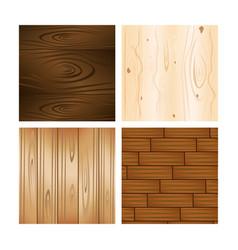 set of wooden textures backgrounds vector image