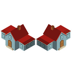 3d design for house in blue vector image
