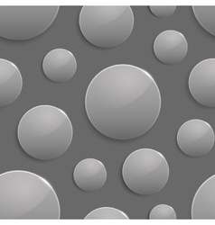Black and white colored circles with light spot vector image