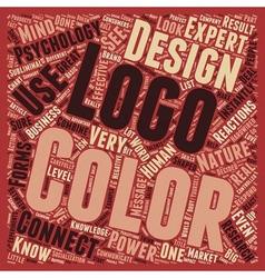 Color psychology logo design text background vector