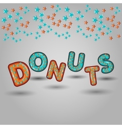 donuts seamless pattern design 3d letters vector image vector image