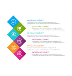 flat colorful abstract infographic six options vector image