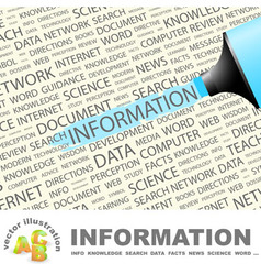 INFORMATION vector image vector image