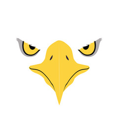 eagle eyes front face graphic vector image vector image