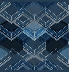 Geometric blue pattern vector