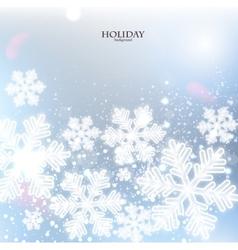 White defocused snowflakes on glow background vector