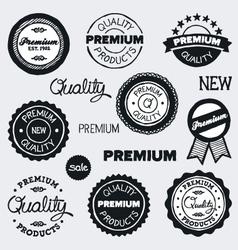 drawn vintage labels vector image