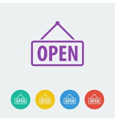 open flat circle icon vector image