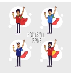 Set of the international fans of national football vector image