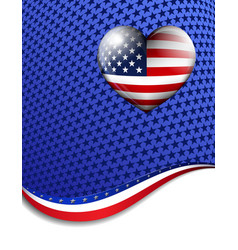 Stars Stripes Heart Background vector image vector image