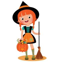 Witch halloween vector