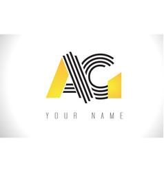 ag black lines letter logo creative line letters vector image