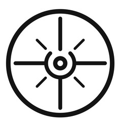aim scope target icon simple style vector image