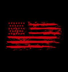american flag in grunge style design element vector image