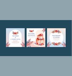 Autumn flower concept design for advertising vector