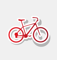 bicycle bike sign new year reddish icon vector image