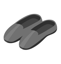 black man shoes icon isometric style vector image