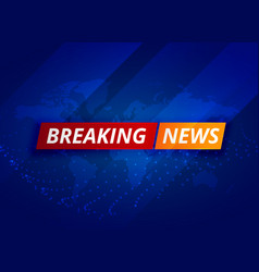 blue breaking news tv background vector image