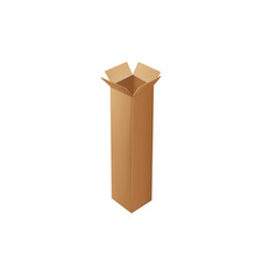 box packaging open carton container isolated icon vector image