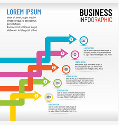 business infographics for presentation template vector image