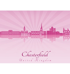 Chesterfield skyline in purple radiant orchid vector