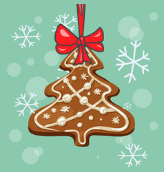 Christmas gingerbread tree vector