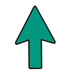Color arrow sign up direction icon vector