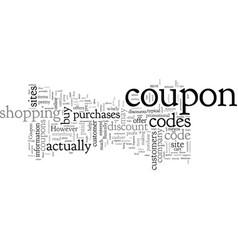 Coupon codes vector