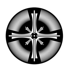 cross in circle shape vector image