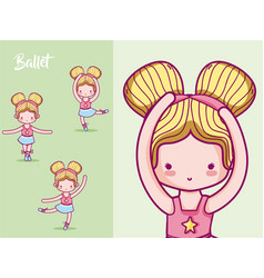cute girl ballet dancers vector image