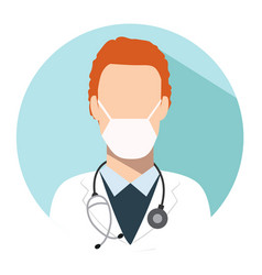 doctor web icon therapist avatar vector image