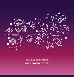 education science concept isolated on colorful vector image