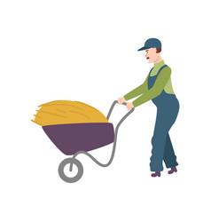 flat farmer man in professional uniform vector image