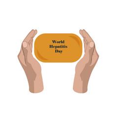 Flat icon on theme world hepatitis day soap vector