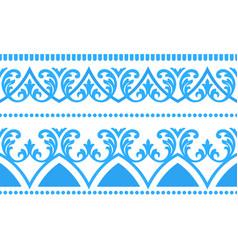 floral ornament seamless flourish pattern vector image