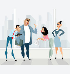 funny office characters vector image