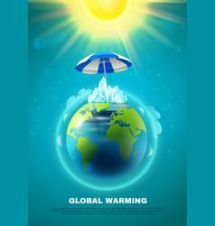Global warming poster vector